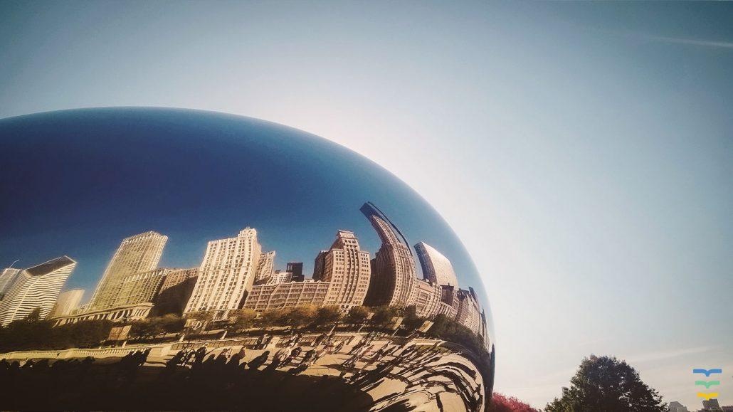 "Cloud Gate, ""The Bean"", Chicago, Virtual Background"