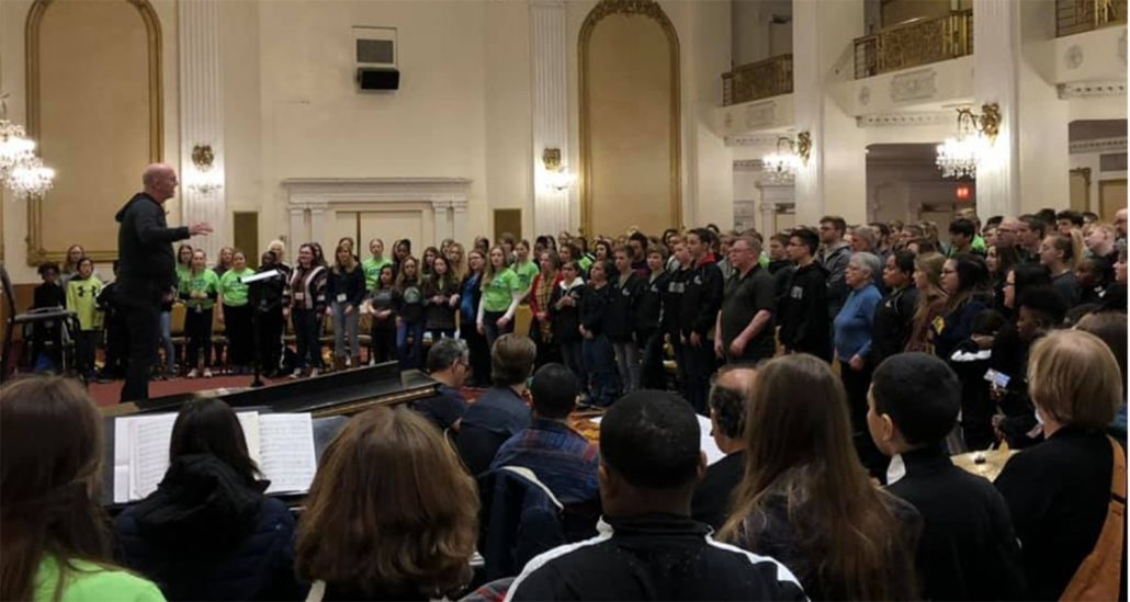 Grand Cities Children's Choir performing at Carnegie Hall
